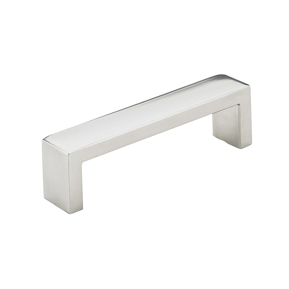 Richelieu Williamsburg Collection 3 3/4 in (96 mm) Center-to-Center Polished Stainless Steel Contemporary Cabinet Pull