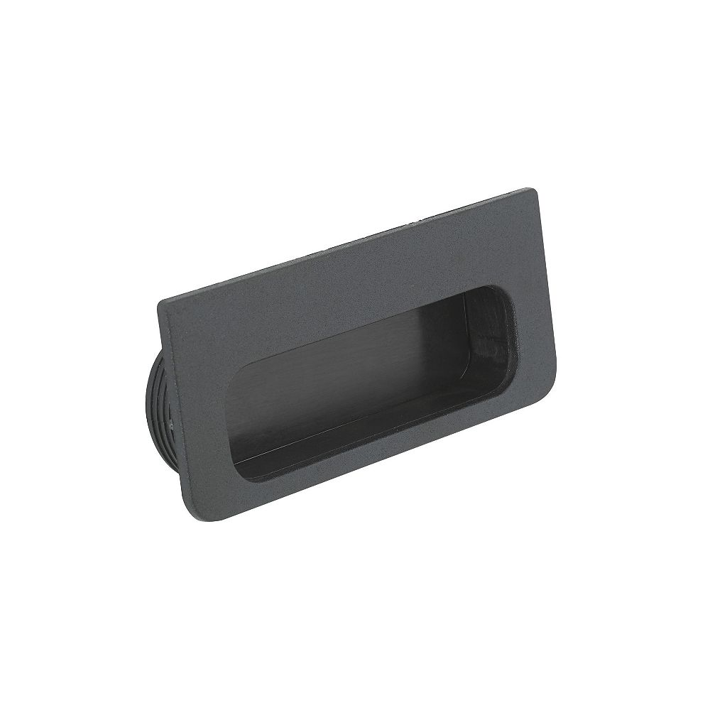 Richelieu 4 7/32 in (107 mm) Length Matte Black Contemporary Cabinet Recessed Pull