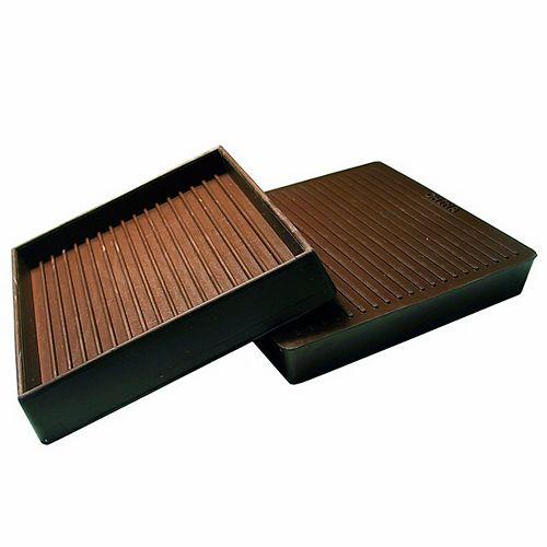 Non-Skid Square Rubber Cups - Box of 2