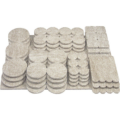 FELTAC Heavy-Duty Self-Adhesive Multipack Felt Pads
