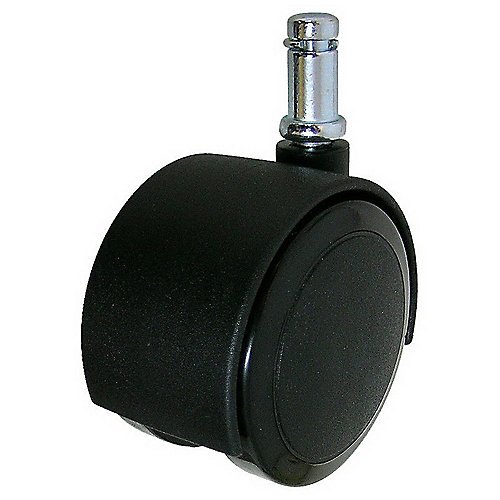 Soft Tread Dual-Wheel Furniture Caster - With Friction Grip Stem