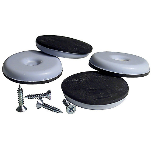 SUPER SLIDEX Gray Round Ultra-Sliding Glides