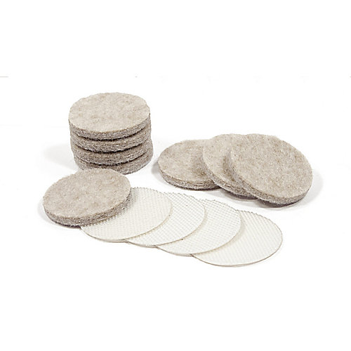 ULTRA FELTAC Heavy-Duty Round Felt Pads and VELCRO