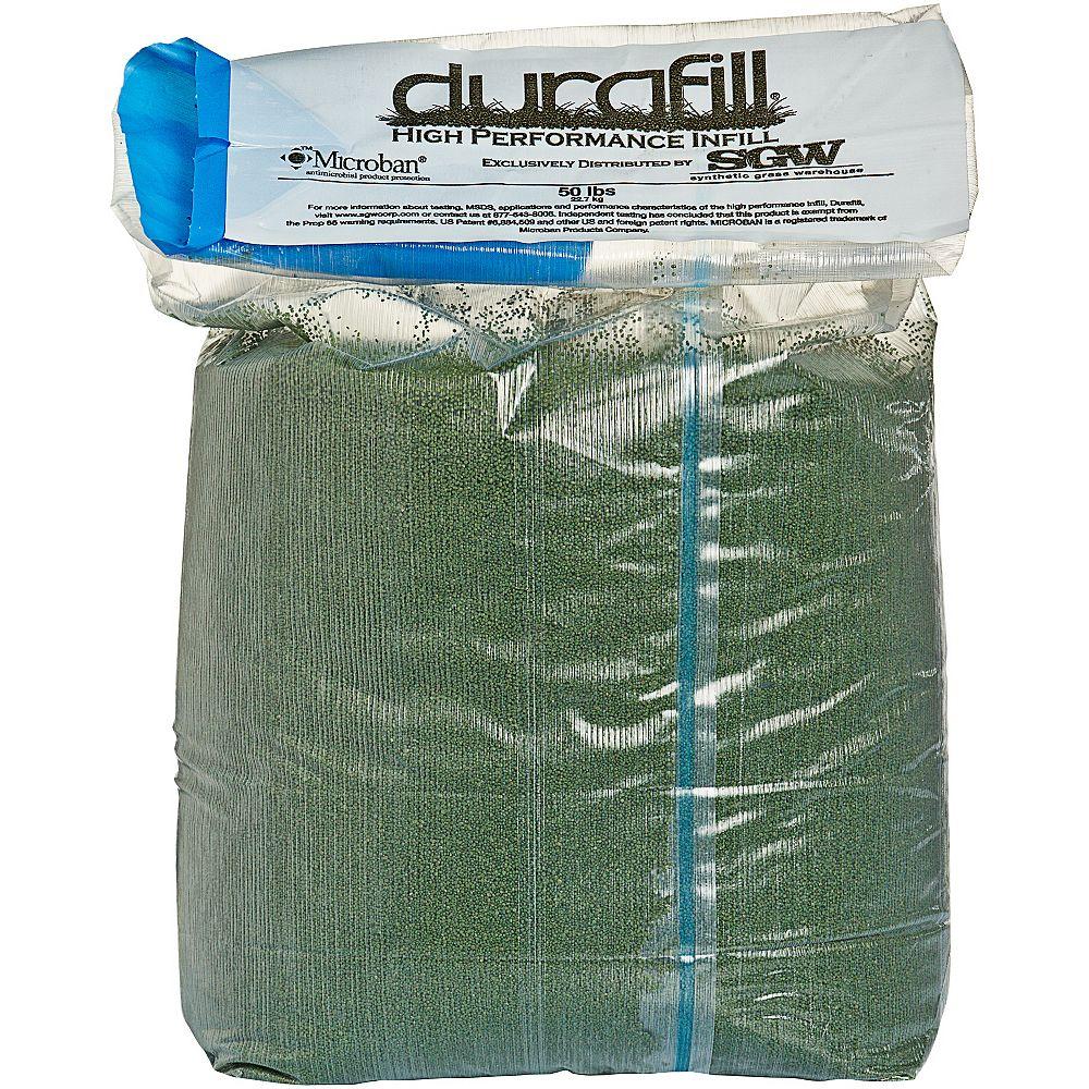 Durafill Greenline 50LB.  Remplissage vert haute performance pour pelouses synthétiques