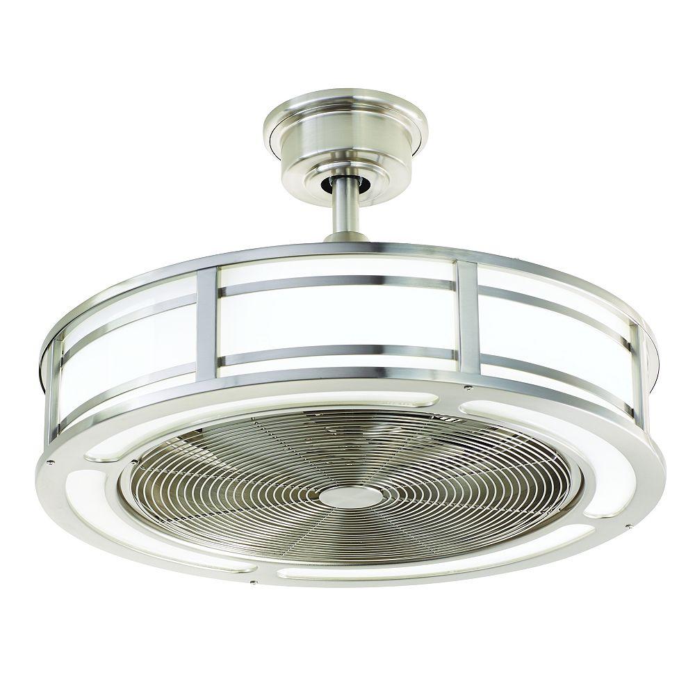 Brette 5 inch Indoor/Outdoor Brushed Nickel Ceiling Fan