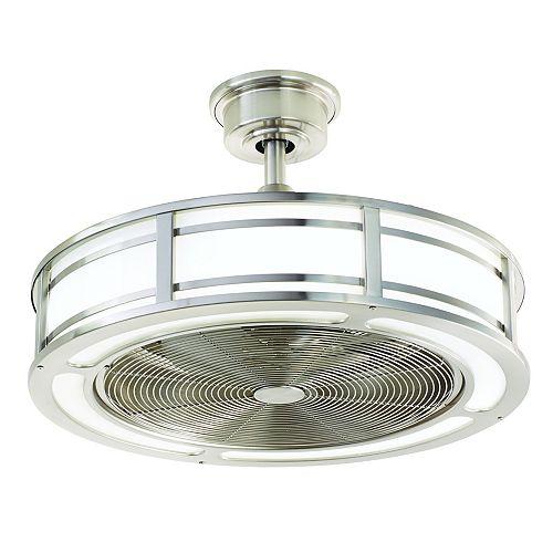 Brette 23 inch Indoor/Outdoor Brushed Nickel Ceiling Fan