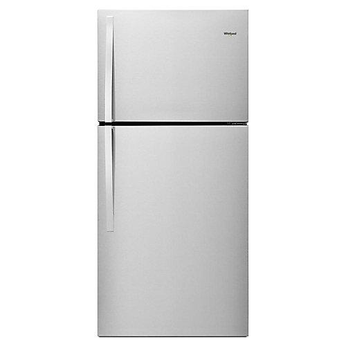 30-inch W 19 cu. ft. Top Freezer Refrigerator in Fingerprint Resistant Metallic Steel