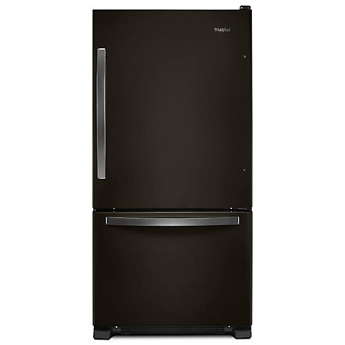 33-inch W 22 cu. ft. Bottom Freezer Refrigerator in Black Stainless Steel - ENERGY STAR®