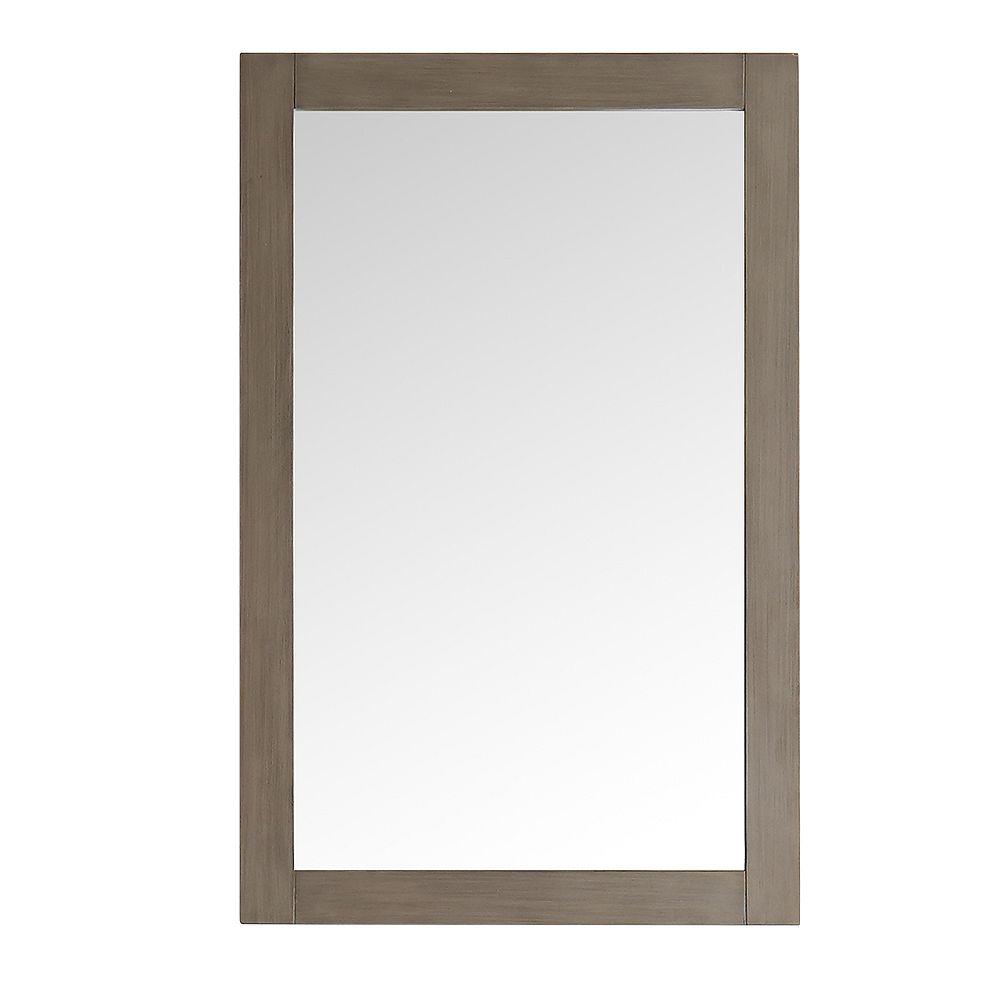 Fresca Niagara 20-inch W x 30-inch H Framed Wall Mirror in Antique Silver Finish
