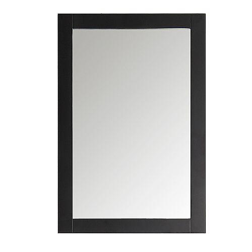 Miroir Hudson, 20 po x 30 po, fini noir