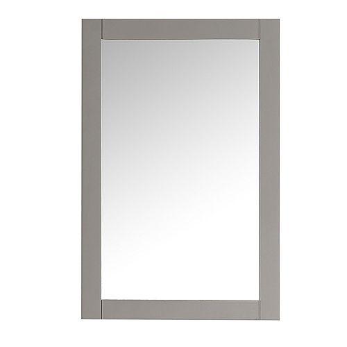 Hudson 20-inch W x 30-inch H Framed Wall Mirror in Grey Finish
