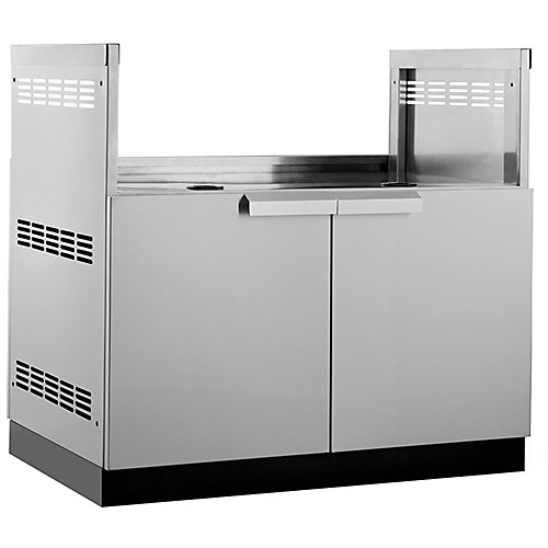 Classic 40-inch W x 23-inch D Outdoor Kitchen Stainless Steel Insert BBQ Stainless Steel