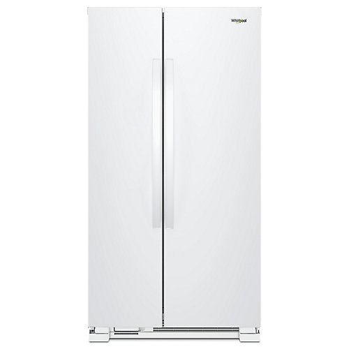 33-inch 22 cu. ft. Side by Side Refrigerator in White