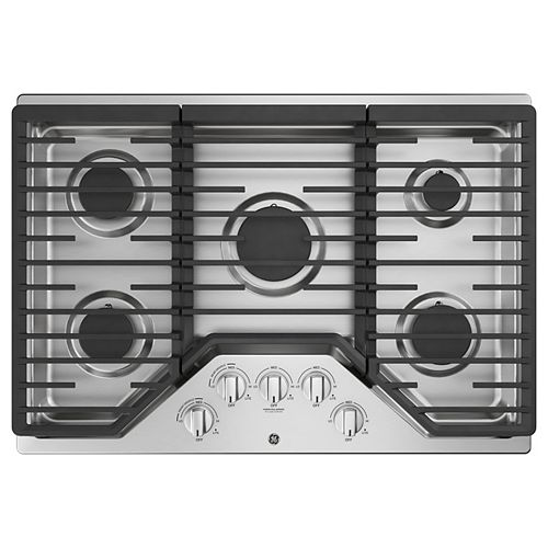 30-inch W Gas Cooktop with 5 Burners Including Power Burners in Stainless Steel
