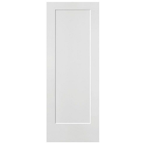 Masonite 32-inch x 80-inch x 1 3/8-inch 1-Panel Hollow Core Lincoln Park Interior Door Slab