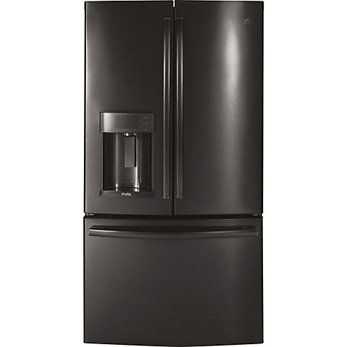36-inch W 22.2 cu. ft. French Door Refrigerator with Door-in-Door in Black Stainless Steel