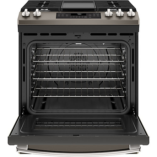 30-inch 5.6 cu. ft. Single Oven Gas Range with Self-Cleaning Convection Oven in Slate