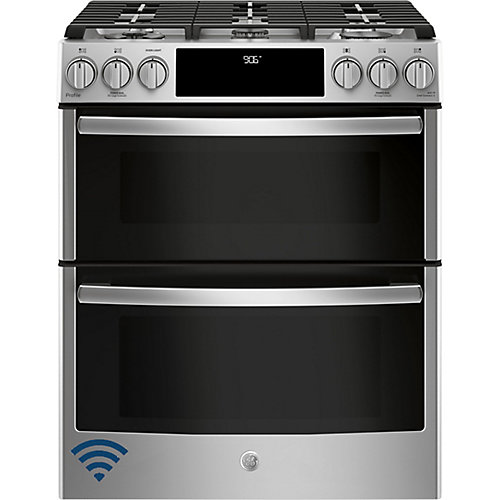 30-inch 6.7 cu. ft. Double Oven Gas Range with Self-Cleaning Convection Oven in Stainless Steel