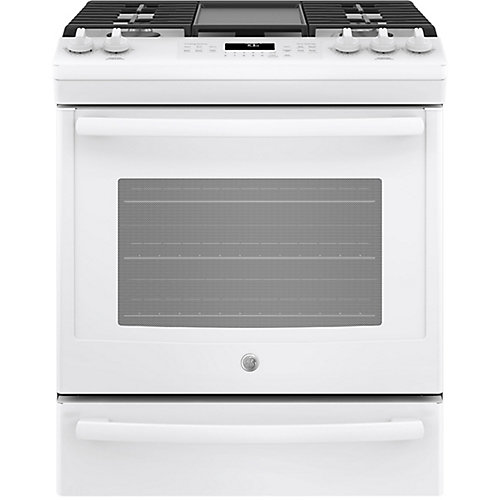 30-inch 5.6 cu. ft. Single Oven Gas Range with Self-Cleaning Convection Oven in White