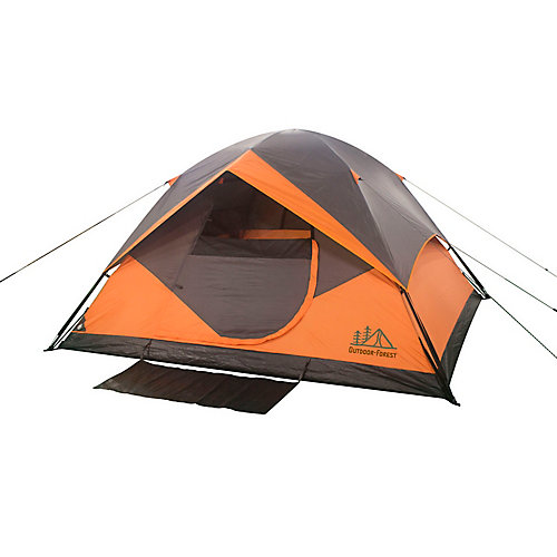 10 ft. x 9 ft. x 66-inch 6-Person Instant Dome Polyester Tent with fibreglass Poles