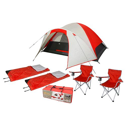 4-Person 9 ft. x 7 ft. x 52-inch Polyester Tent with fibreglass Pole