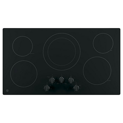 36 Black on Black Radiant Cooktop