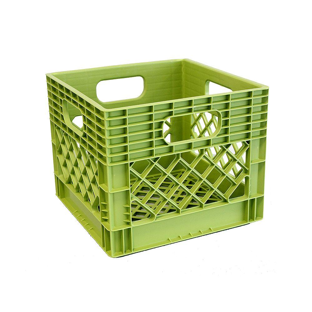 GSC Storage Tote  Milk Crate - 25L/6.5gal - Key Lime