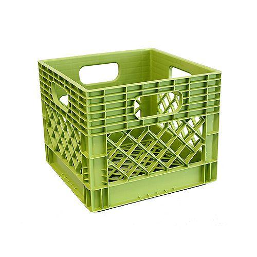 Bac de rangement Caisse à lait - 25L - vert