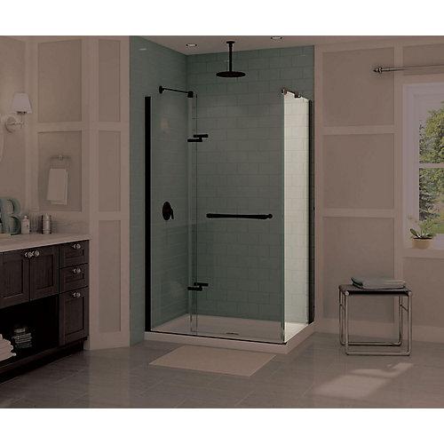 Reveal Frameless Fixed Shower Door Panel in Dark Bronze