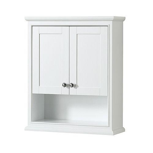 Deborah Bathroom Wall-Mounted Storage Cabinet in White
