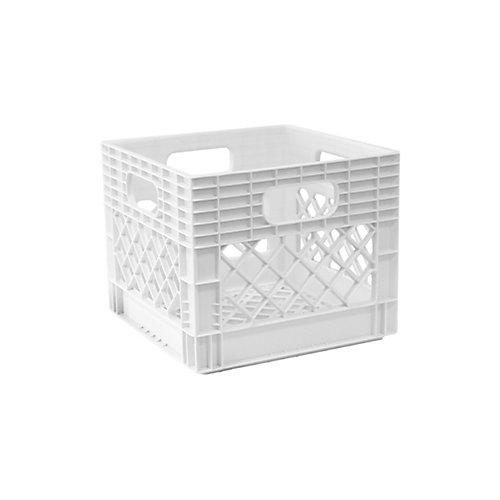 Storage Tote Milk Crate - 25L/6.5gal - White