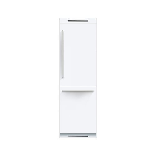 Bosch 800 Series - 24 inch 9.6 cu.ft. Bottom Freezer w/ Home Connect - Custom Panel - ENERGY STAR®