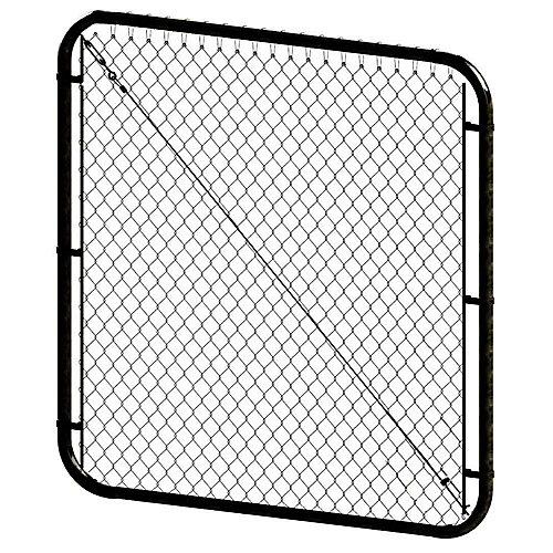 Barrière de piscine ajustable - 5 pieds hauteur x 48 pouces de largeur - Noir