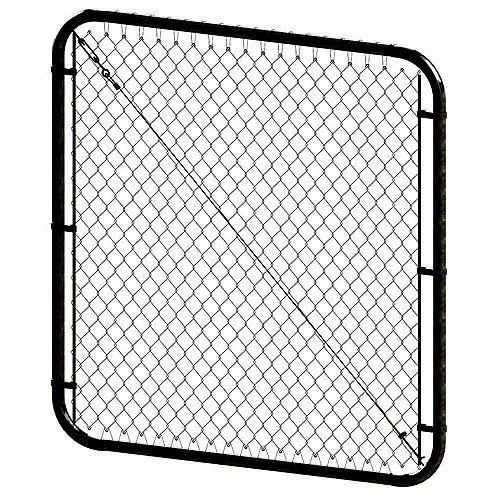 Barrière à mailles de chaîne ajustable - 5 pieds hauteur x 72 pouces de largeur - Noir