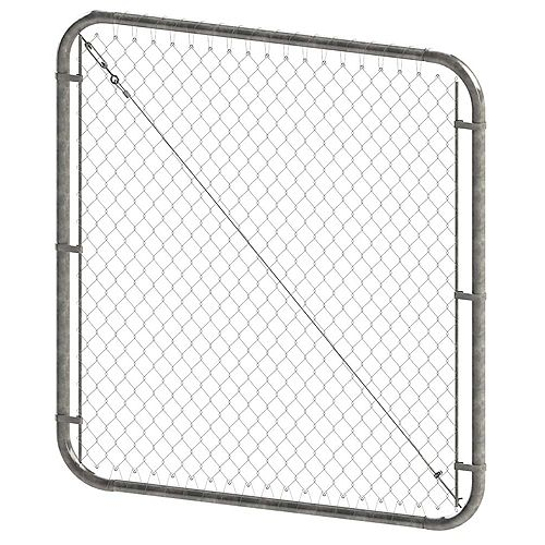 Peak Products 5 ft. H x 72-inch W Galvanized Adjustable Chain Link Gate