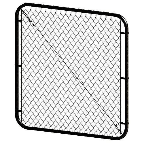 Barrière à mailles de chaîne ajustable - 4 pieds hauteur x 72 pouces de largeur - Noir