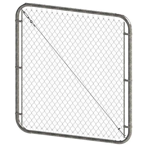Barrière à mailles de chaîne ajustable - 4 pieds hauteur x 72 pouces de largeur - Galvanisé