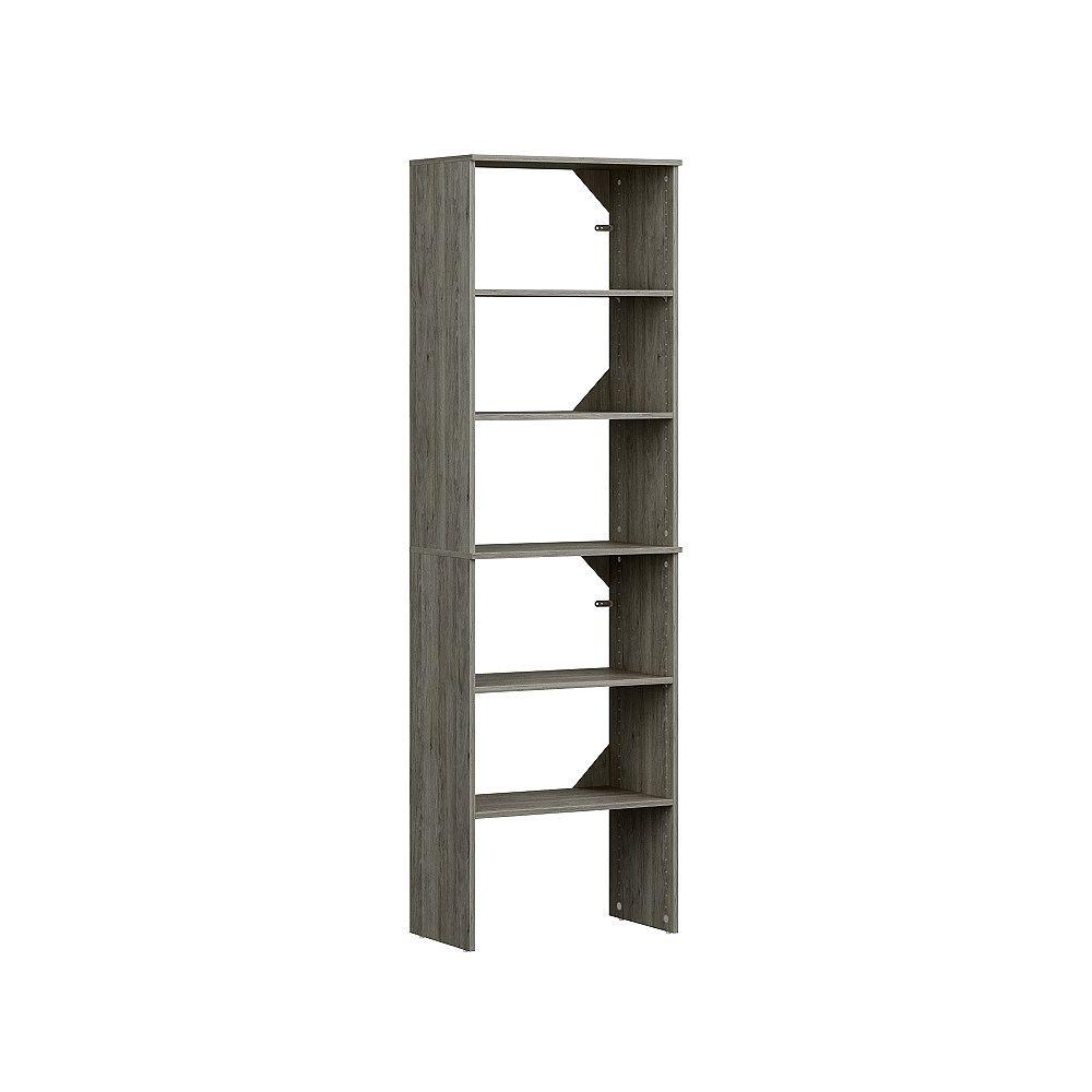 ClosetMaid Style+ 5ft - 9ft Standard Closet Kit Coastal Teak