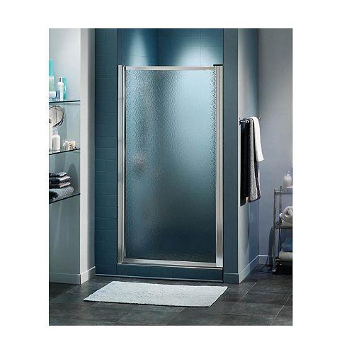 Pivolok 24 3/4 inch x 64 1/2 inch Framed Pivot Shower Door in Chrome