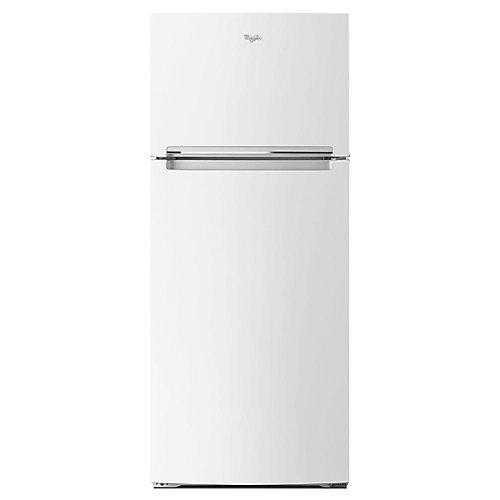 28-inch W 17.6 cu. ft. Top Freezer Refrigerator in White