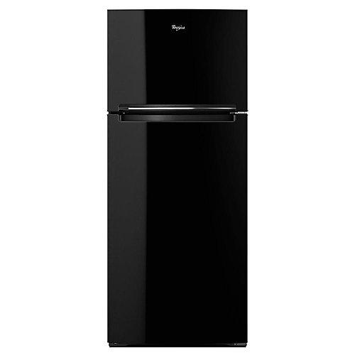 28-inch W 17.6 cu. ft. Top Freezer Refrigerator in Black