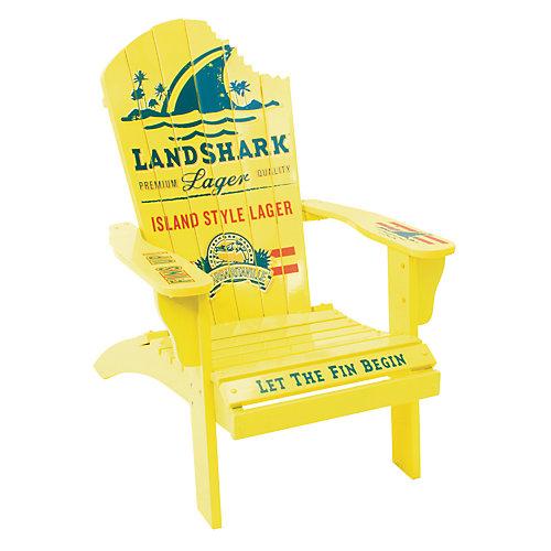 """Margaritaville Painted Wood """"Landshark Lager"""" Muskoka Chair with Shark Bite"""