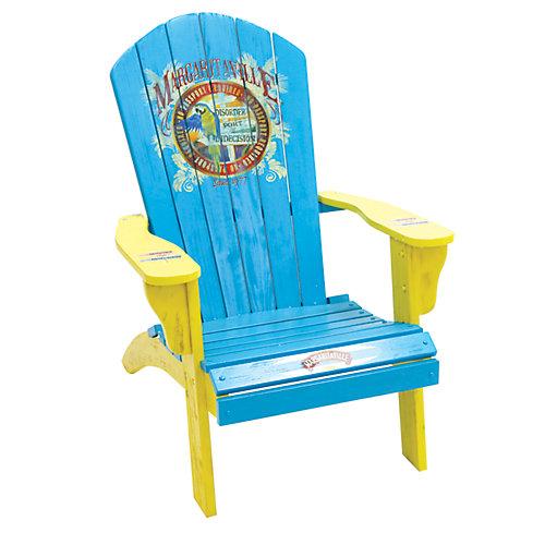 "Margaritaville Painted Wood ""No Passport Needed"" Muskoka Chair"