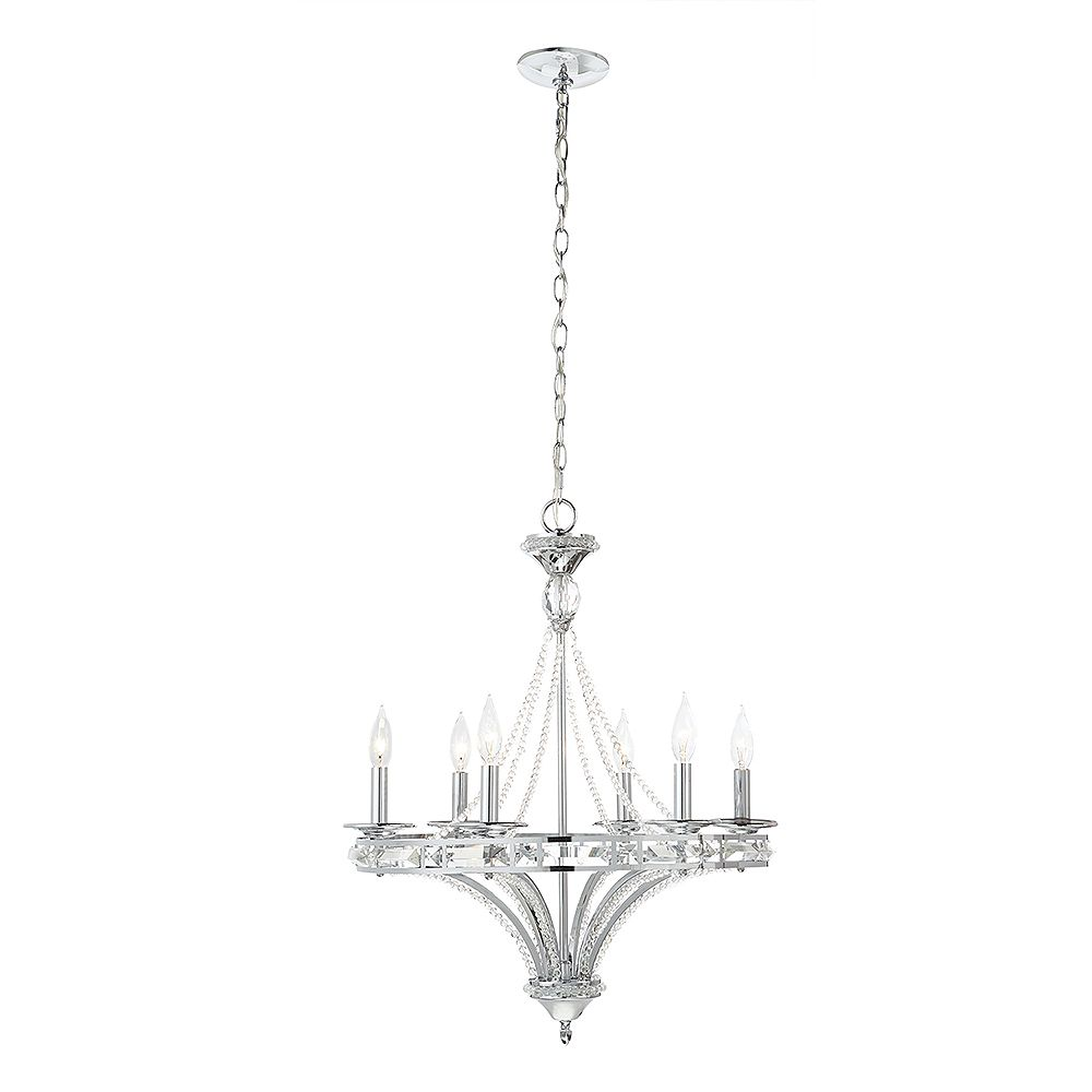 Home Decorators Collection 6-Light Crystal Chandelier ...