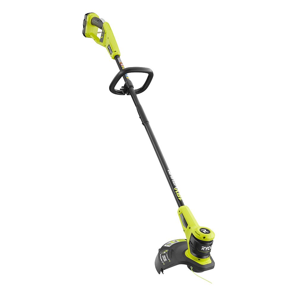 RYOBI 18V ONE+ Lithium-Ion Electric Cordless String Trimmer W/ 2.0 Ah, Battery and Charger Included