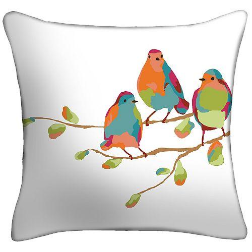 17 inch Triplet Birds Pillow 2-Pack