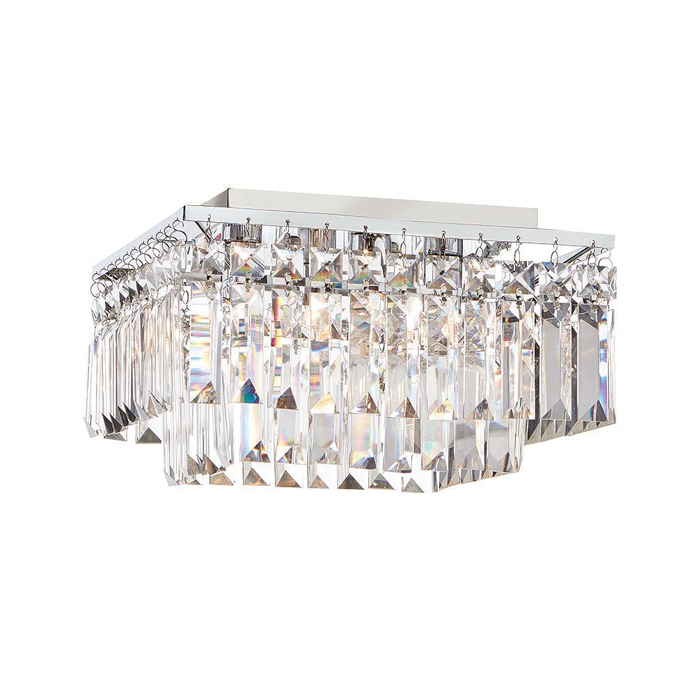 Home Decorators Collection 12 Inch 4 Light 25w Chrome Flushmount Ceiling Light With Crysta The Home Depot Canada