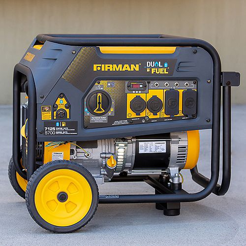 FIRMAN 7125/5700: GAS 7125/5700: LPG Watt 30A 120/240V Recoil Start Gas or Propane Dual Fuel Portable Generator cETL Certified