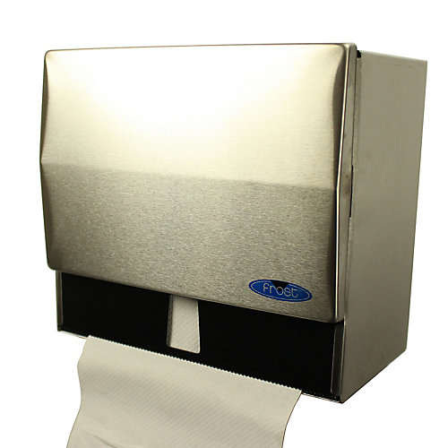 Universal Roll And Single Fold Stainless Steel Paper Towel Dispenser