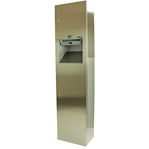 Frost Auto Roll Combination Paper Towel Dispenser/Disposal, Recessed